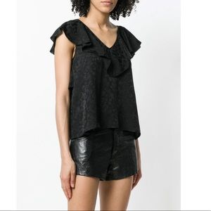Zadig & Voltaire Teen Jac Leo Top. Size Small.